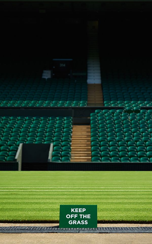 Some 10 months of precise nurturing creates pristine lawn tennis courts in time for the opening of the Wimbledon Championships in June.
