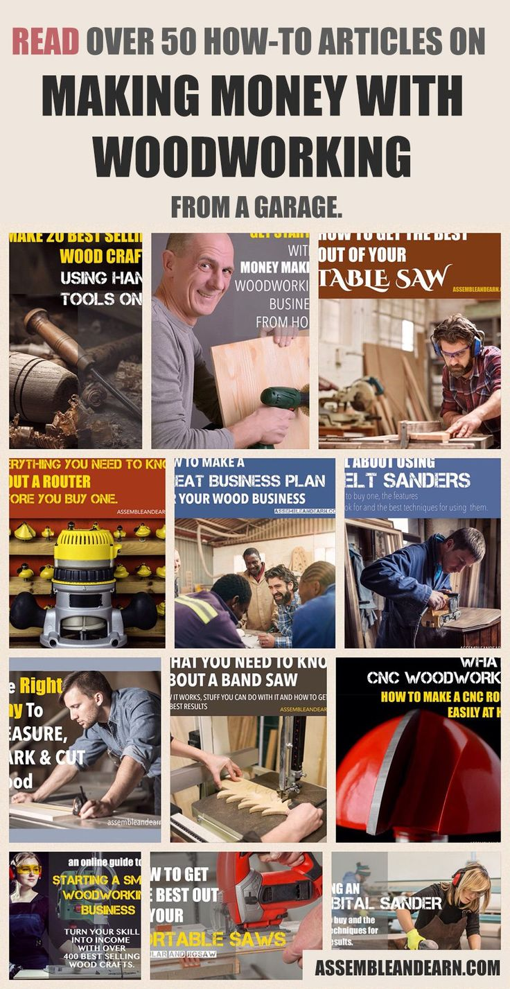 Read the full collection of blog posts that show you how to make money with woodworking from home.