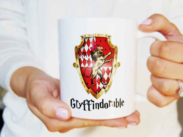 A mug for someone who is brave, daring, chivalrous *and* cute.