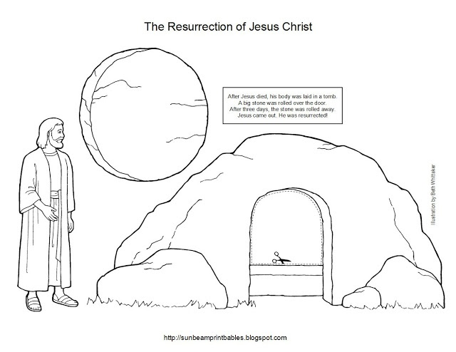 Sunbeam Printables: Easter Craft for Lesson 45: The Resurrection of Jesus Christ