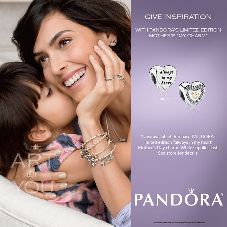 Celebrate Mom with PANDORA for Mother's Day!