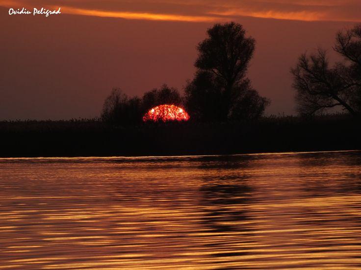 Apus de soare in Delta Dunarii - Bratul Sf. Gheorghe
