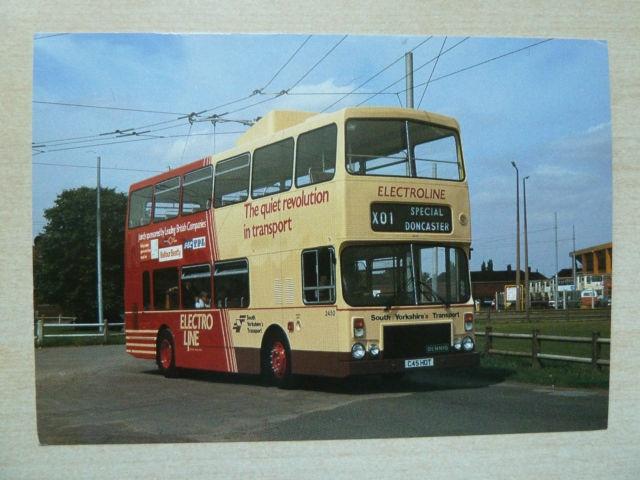 South Yorkshire Transport Transicard Postcard Dennis Dominator Trolleybus | eBay