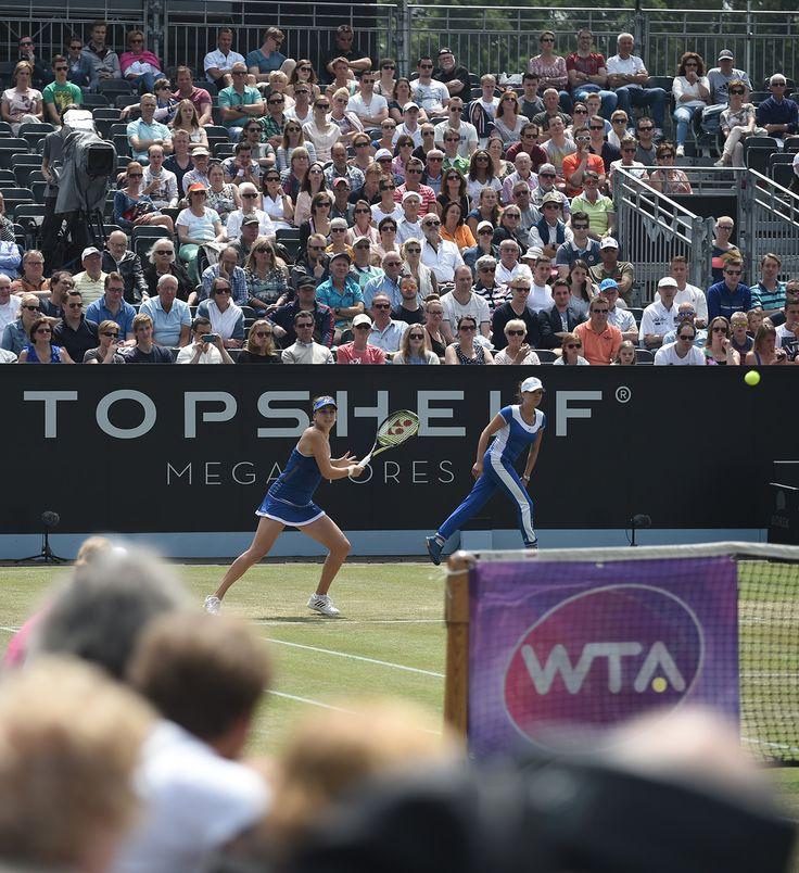 Belinda Bencic, beste vrouwelijke nieuwkomer op de WTA Tour van 2014, hier in de finale van Topshelf Open