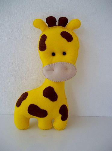 Girafa Feltro | Medida: 33 x 18 cm | Ateliê Márcia Lima | Flickr