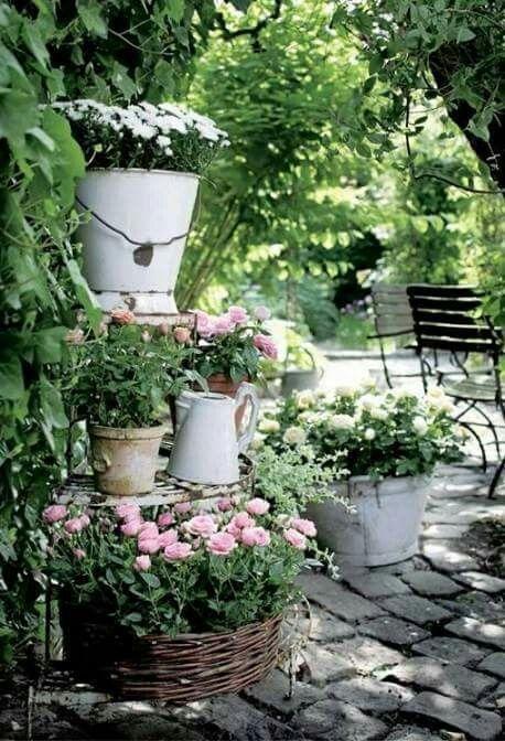 511 Best Container Gardening Ideas Images On Pinterest: Inspiration Für Einen Weißen Garten