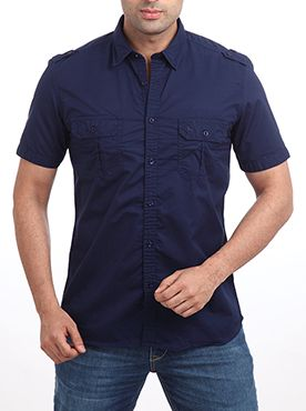 Parx presents you a trendy and stylish casual shirt. It is made up of pure cotton which means you need not worry much about the sweat and body odour after wearing the shirt even for the whole day. This half sleeve shirt has a slim fit design which looks absolutely classy when you wear it along with a matching trouser. You can wear this dark blue colored shirt to any type of gatherings and get overwhelmed with loads of compliments. People who are obsessed with sports and outdoor activities…