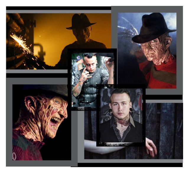 """Joshua Balz as Freddy Krueger"" by mecat-848 ❤ liked on Polyvore featuring art"