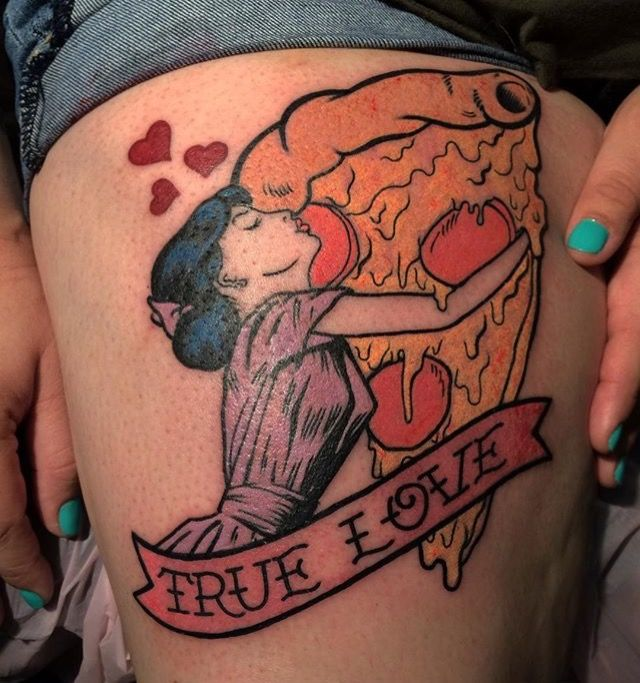 True love pizza tattoo                                                                                                                                                                                 More