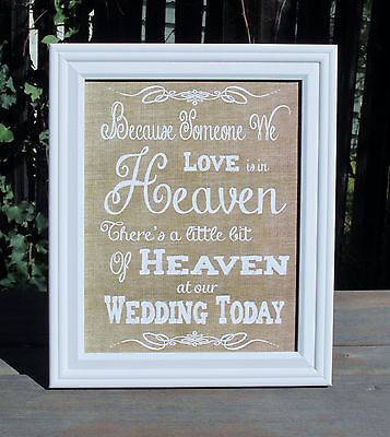Memory Table Ideas wedding memory book ideas Rustic Wedding Memory Table Sign Because Someone We