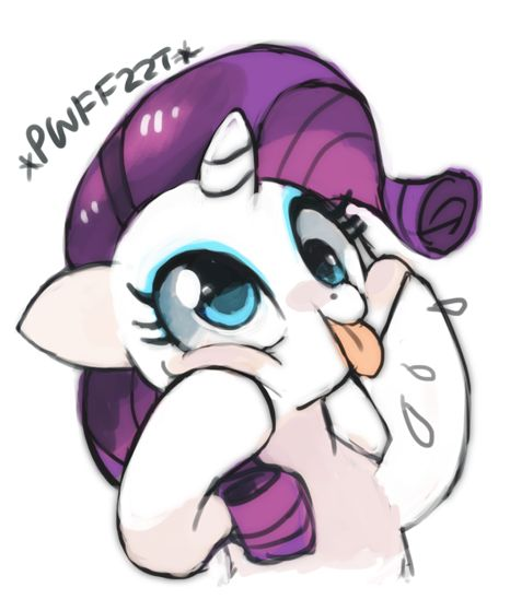 #387310 - artist:suikuzu, cute, derp, drool, floppy ears, funny face, grimace, :p, raribetes, rarity, raspberry, safe, silly, silly pony, smiling, solo, squishy cheeks, tongue out - Derpibooru - My Little Pony: Friendship is Magic Imageboard