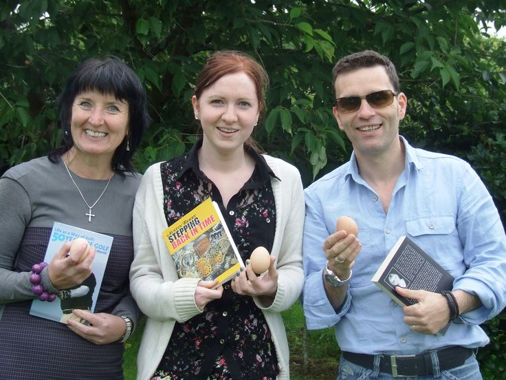 Which comes first? The Chicken or the egg? hanging out with my Publisher, Niall, and Aine from Book Hub Publishing in County Galway.
