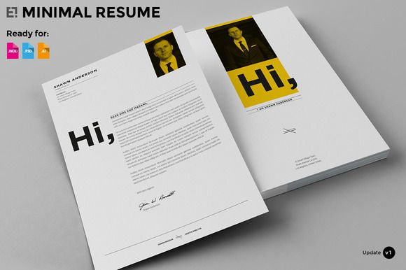 7 Pages - Minimal Resume CV by Egotype on Creative Market