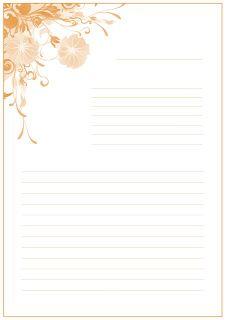 Оформления листа для поздравления. Красивые листы А4 с разлиновкой.