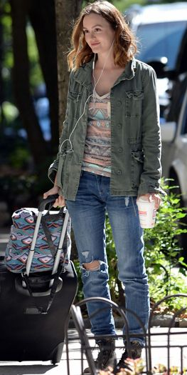 Leighton Meester in #DL1961 Riley Boyfriend Jeans