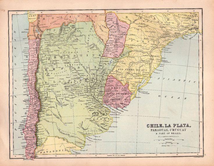 Best Antique World Maps Images On Pinterest Antique Maps - Argentina map vintage