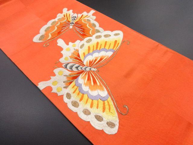 大正ロマン 蝶模様織出し丸帯