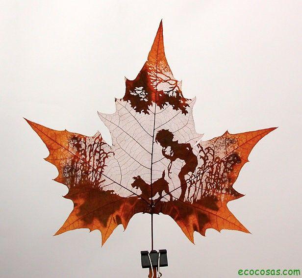 Arte verde: esculpir hojas – Ecocosas
