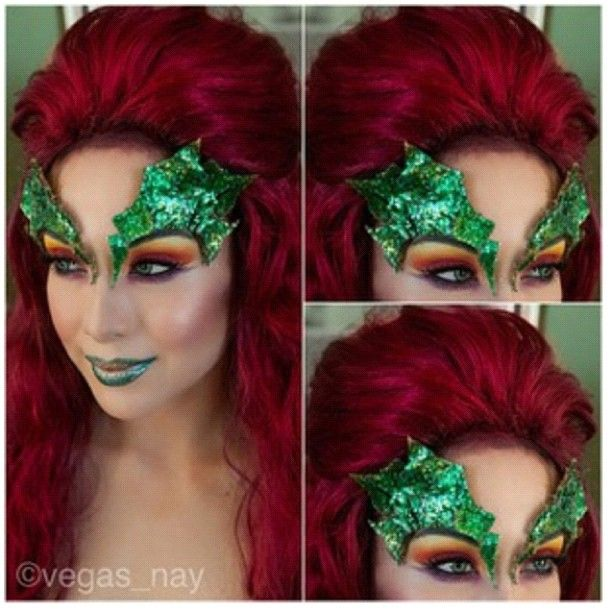 Swoon! @Vegas_Nay is just too amazing. She created this incredible Poison Ivy look using #Sugarpill Burning Heart palette. Perfect everything! #Halloweenmakeup #PoisonIvy