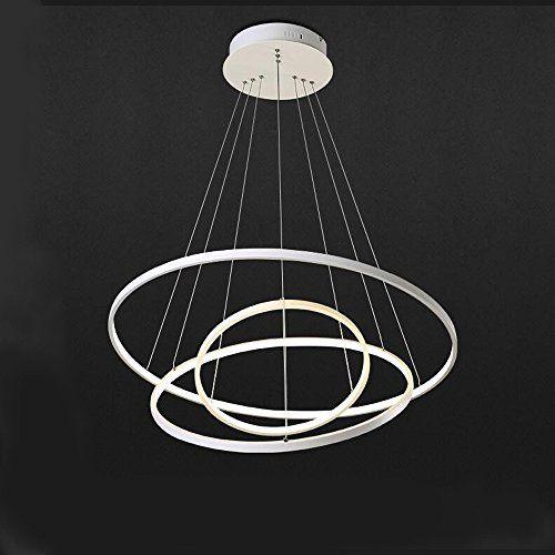 Koonting Moderne Réglable Suspension Circulaire Lustre Design Led XNOk08nwP