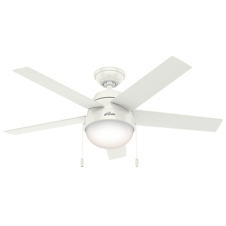 Hunter Fan 14 X 24 X 10 Inch White Lighted Ceiling Fans