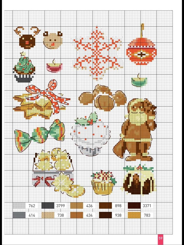 Christmas theme cross stitch sampler.