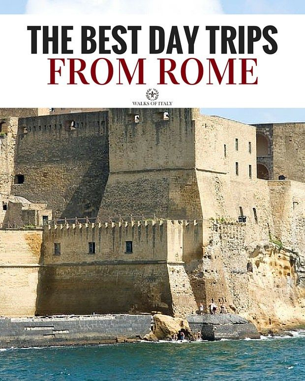 The dramatic, seaside Castel dell'Ovo in Naples is one of the best day trips you can take from rome. Find out other amazing day trips in our travel guide!