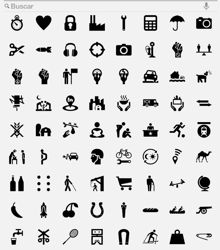 Icons. Bitchin' (of course). B&W. Google Search Results.