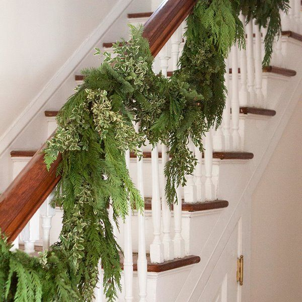 Diy Christmas Garlands From Evergreen Plants Fresh Accents In