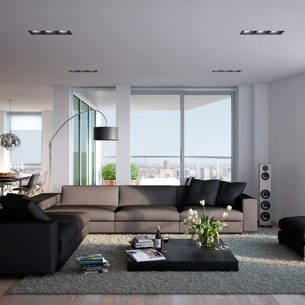 Visualizations modern apartments inspiring industrial lighting classic colors interior design couch