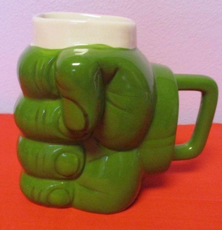 Don't Make Me Angry Hulk Coffee Mug Green Fist Big Mouth Inc. Novelty #BigMouthToys
