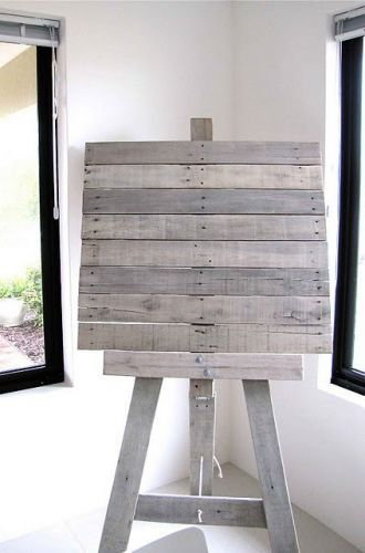 Recycle pallets for wedding info board....
