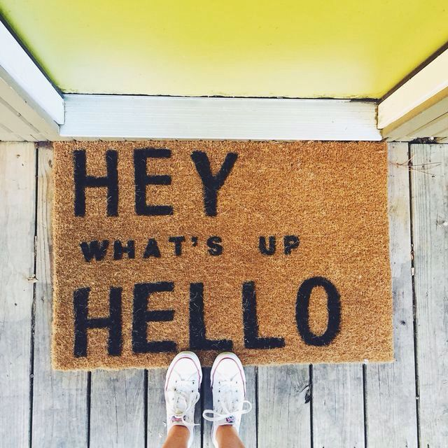 diy door mat i wish i knew this a