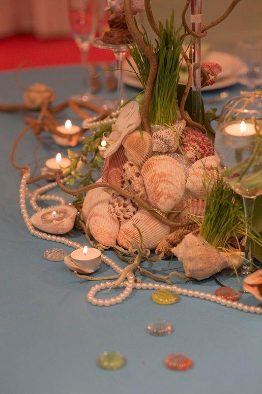 ракушки , жемчуг и свечи