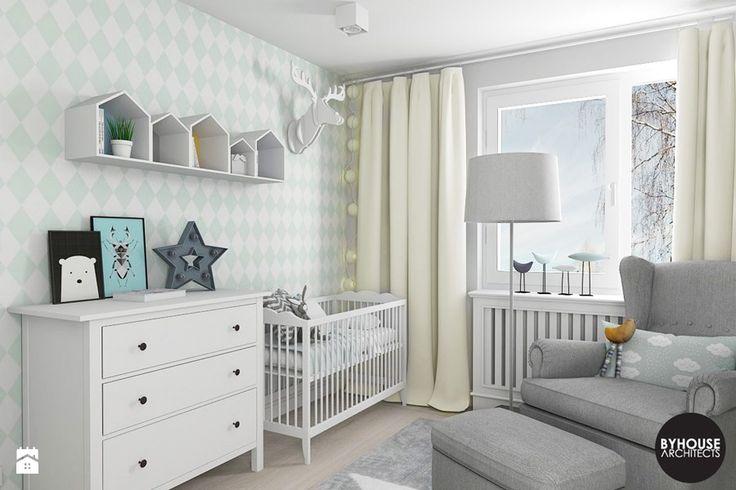 scandiHOUSE - Średni pokój dziecka dla chłopca dla niemowlaka, styl skandynawski - zdjęcie od BYHOUSE ARCHITECTS