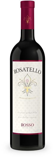 My favorite sweet wine: Rosatello Rosso red wine - Italian sweet red wines