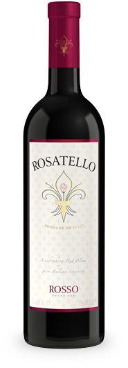 My favorite sweet wine:  Rosatello Rosso red wine - Italian sweet red wines