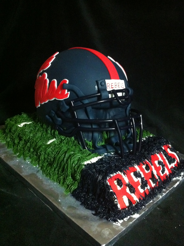 Remarkable Ole Miss Football Helmet Cake Ole Miss Football Football Helmet Funny Birthday Cards Online Fluifree Goldxyz