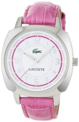 Relógio Lacoste Sportswear Collection Palma Leather Strap White Dial Women's watch #2000599 #Relogio #Lacoste