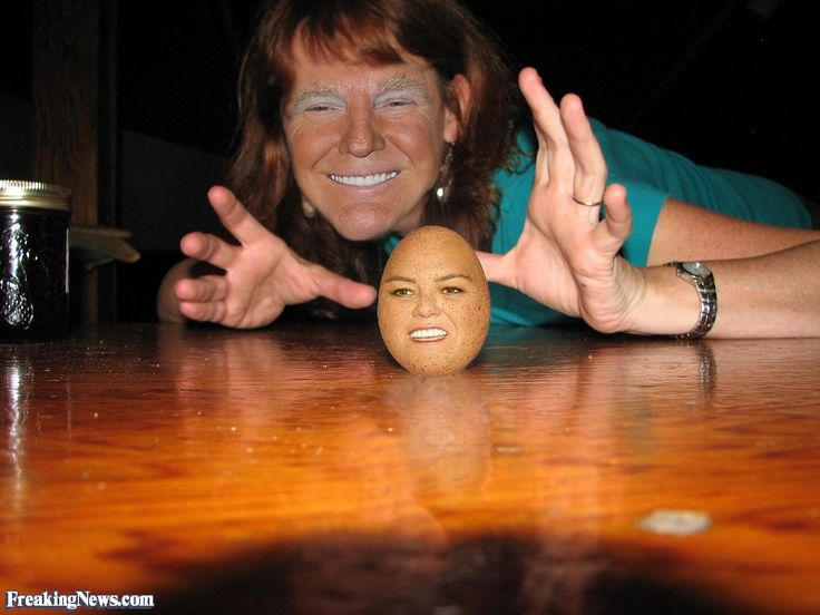 Donald Trump with a Rosie O'Donnel Egg