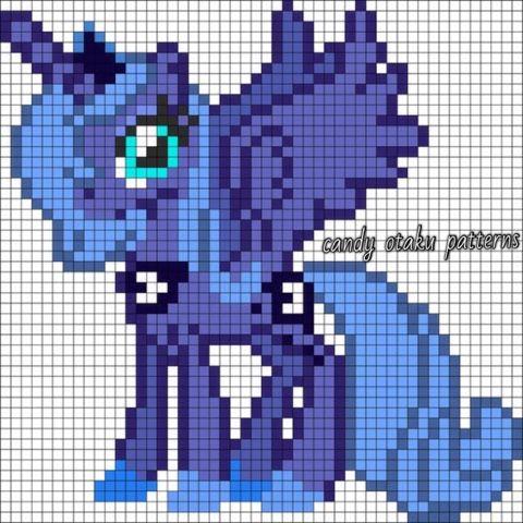My Little Pony - Princess Luna Perlerbeads