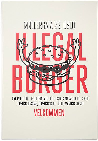 Illegal Burger Branding by The Metric System