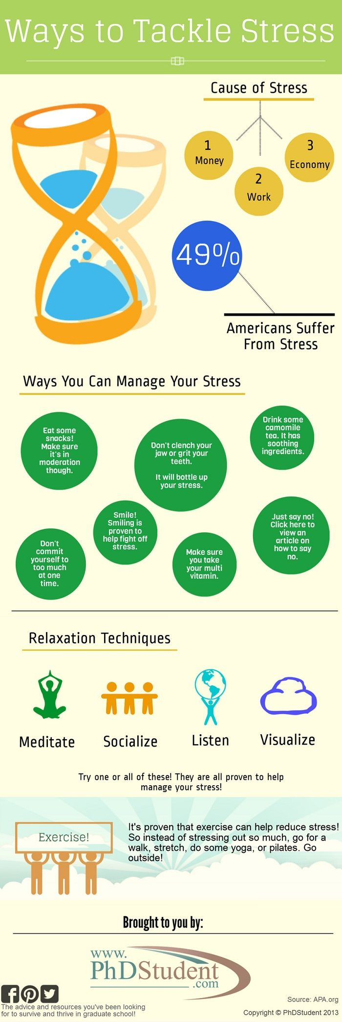 Top tips to staying stress free in the workplace infographic - Ways To Tackle Stress Piktochart Infographics