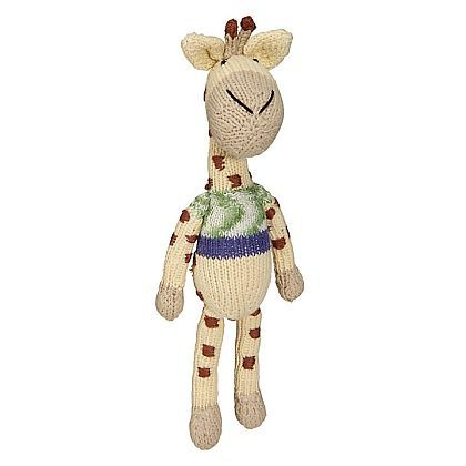 Giraffe Knitted Doll