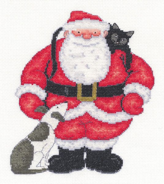 Father Christmas The World of Cross Stitching Issue 144 Christmas 2008  Saved