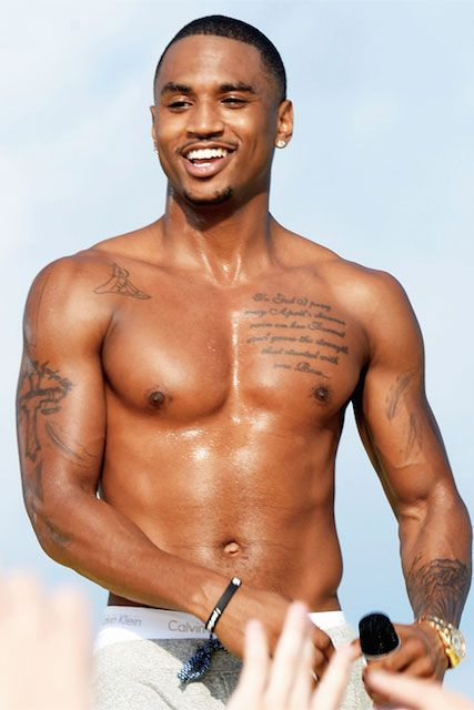 Trey Songz shirtless...