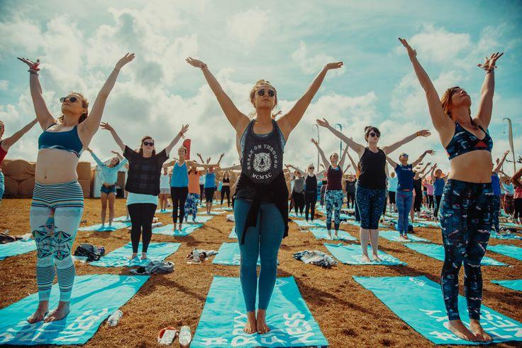 #Yoga time, #ROXYfitness at Boardmasters Festival 2017