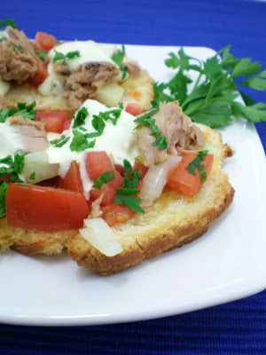 Bruschettas Light de Atum com Tabasco | Figos & Funghis