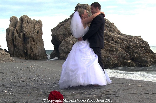 Balcon de Europa Beach in Nerja Wedding Photo   MARBELLA VIDEO PRODUCTIONS by SILVERSCREEN WEDDINGS SPAIN -  Bookings www.marbellavideos.com  MARBELLA VIDEO PRODUCTIONS by SILVERSCREEN WEDDINGS SPAIN - WEDDINGS IN SPAIN - MARBELLA VIDEOS - GETTING MARRIED IN SPAIN - COSTA DEL SOL WEDDING Specialists in providing first class international wedding videos in Southern Spain & Gibraltar. ENQUIRIES FOR 2014 & 2015 WEDDINGS info@marbellavideos.com