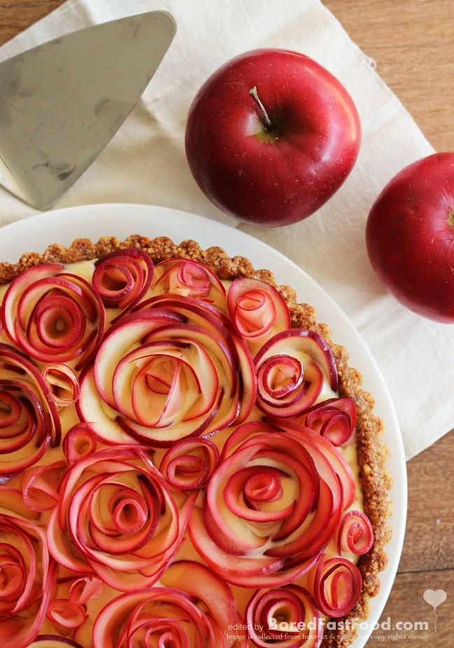 apple pie with curly rose decor best easy - Decoration De Cuisine 2015 En Rose